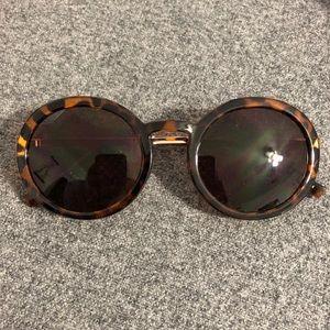 4/$20! Brown tortoiseshell round sunglasses F21